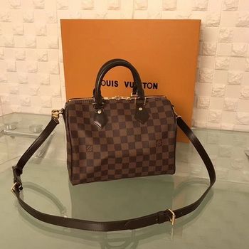 Louis Vuitton Damier Ebene Speedy 25 With Shoulder Strap N41181