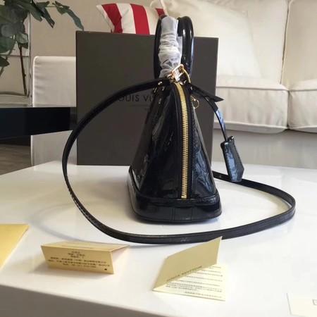 Louis Vuitton Monogram Vernis Alma BB M91606 Black