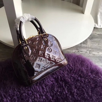 Louis Vuitton Monogram Vernis Alma BB M91606 Brown