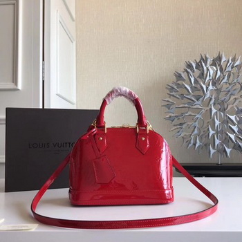 Louis Vuitton Monogram Vernis Alma BB M91606 Red