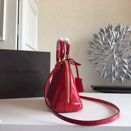 Louis Vuitton Monogram Vernis Alma BB M91606 Red