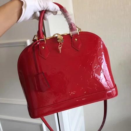 Louis Vuitton Monogram Vernis Alma PM M91611 Red