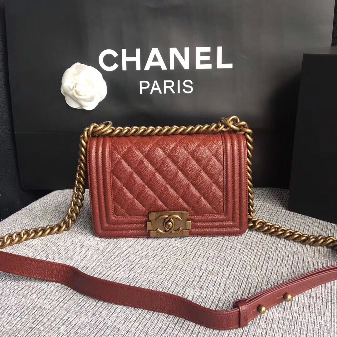 Boy Chanel Flap Bag Original Leather A67086 Red