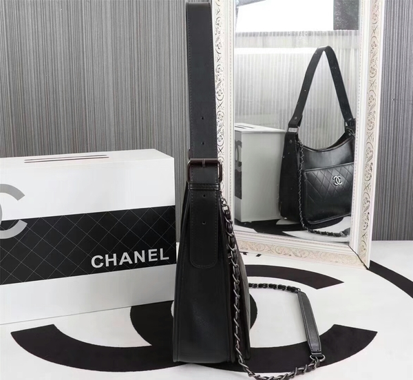 Chanel 2017 Calfskin Leather Tote Bag 8129 Black