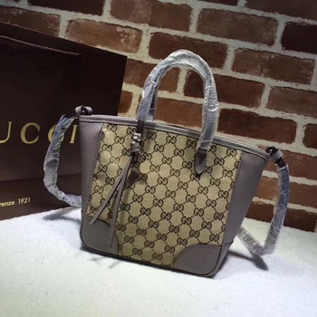 Gucci Bree Original GG Canvas Top Handle Bag 353121 Grey