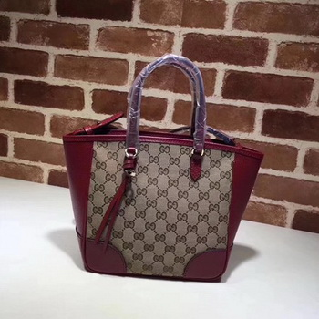 Gucci Bree Original GG Canvas Top Handle Bag 353121 Red
