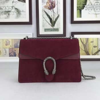 Gucci Dionysus Suede Leather Shoulder Bag 403348 Wine