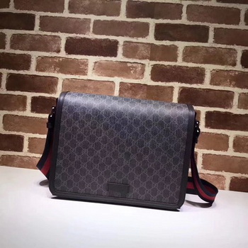 Gucci Original GG Canvas Messenger Bag 475432 Black