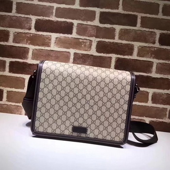 Gucci Original GG Canvas Messenger Bag 475432 Brown