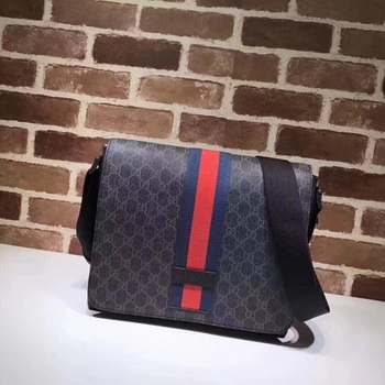Gucci GG Supreme Messenger Bag 475432 Black