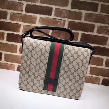 Gucci GG Supreme Messenger Bag 475432 Brown