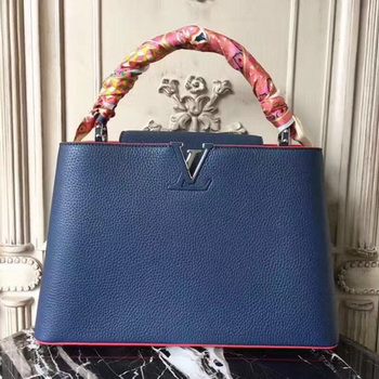Louis Vuitton Elegant Capucines Bags MM M41813 Blue