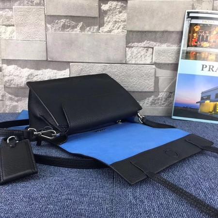Prada Etiquette Bag Calfskin Leather 1BD082 Black