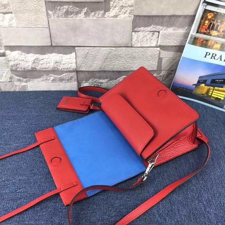 Prada Etiquette Bag Calfskin Leather 1BD082 Red