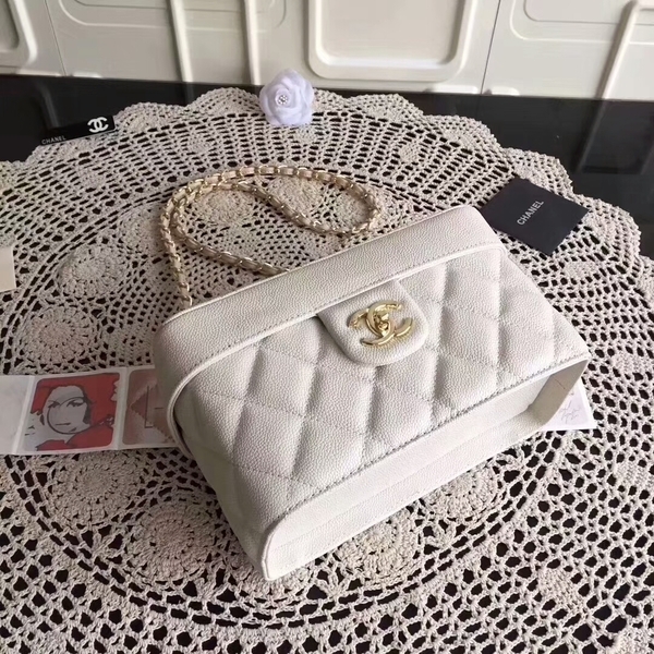 Chanel Cosmetic Bag Caviar Leather CHA6600 White