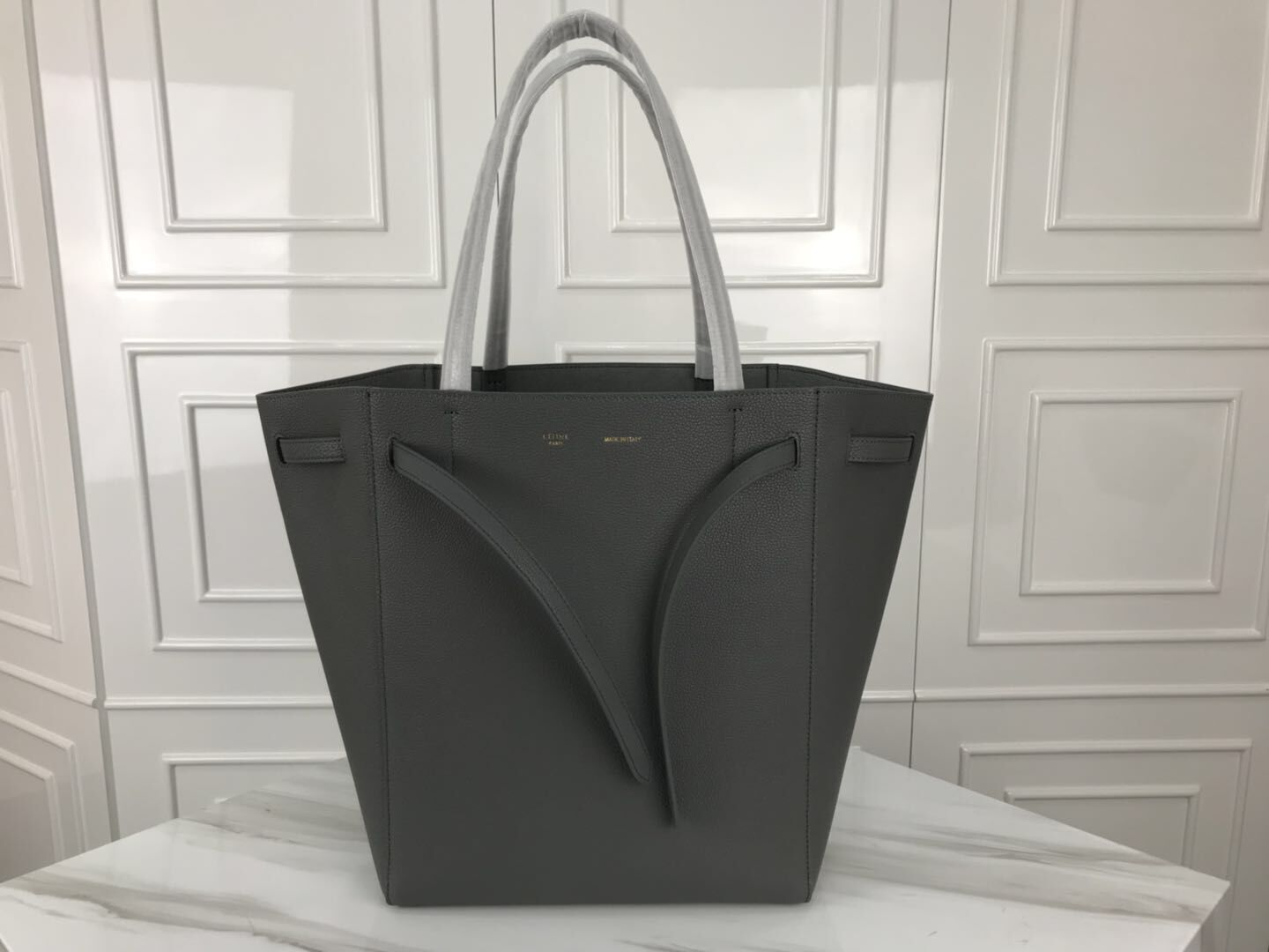 Celine Cabas Phantom Bags Original Leather C2210 Grey