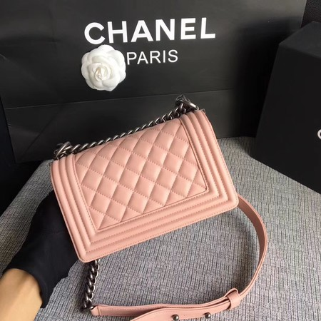 Boy Chanel Flap Shoulder Bag Sheepskin Leather A67085 Pink