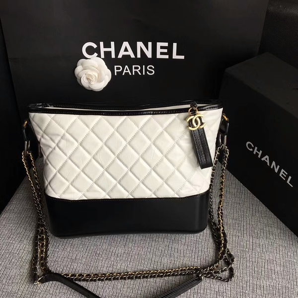 Chanel Gabrielle Shoulder Bag Original Calfskin Leather A93842 Black&White