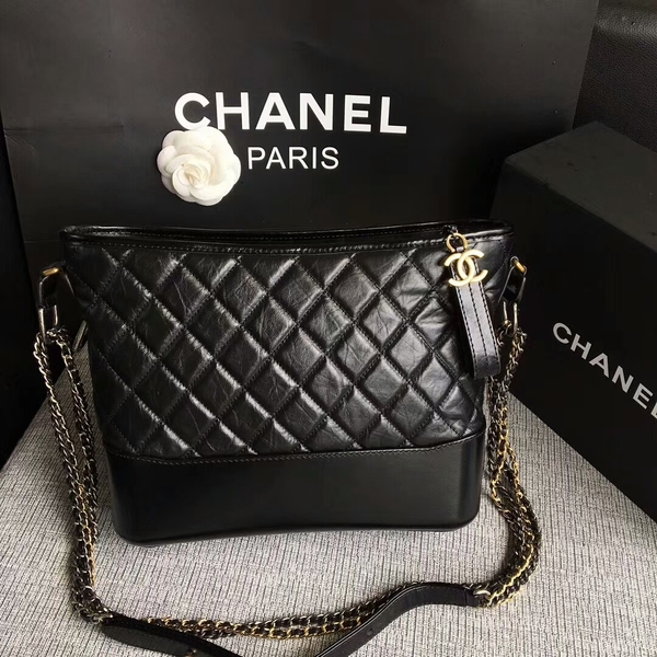Chanel Gabrielle Shoulder Bag Original Calfskin Leather A93842 Black
