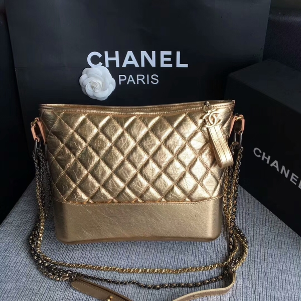 Chanel Gabrielle Shoulder Bag Original Calfskin Leather A93842 Gold