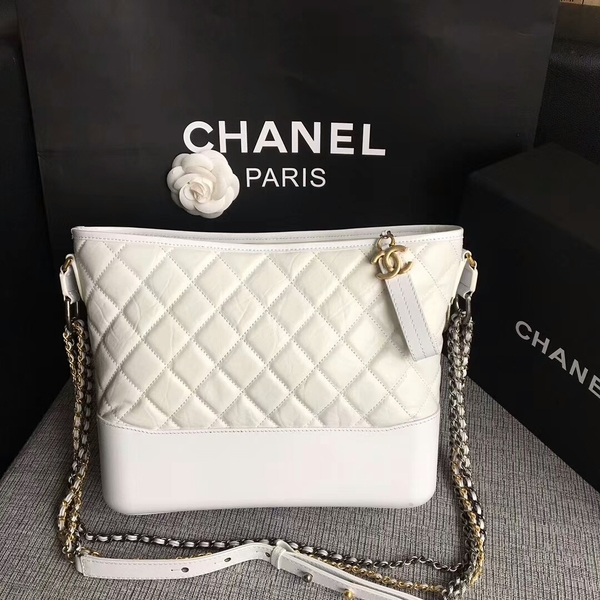 Chanel Gabrielle Shoulder Bag Original Calfskin Leather A93842 White