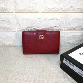 Gucci Calfskin Lether Wallet 337023 Wine