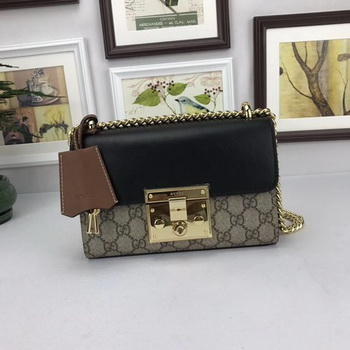 Gucci Padlock GG Supreme Shoulder Bags 409487 Black