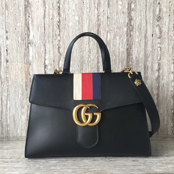 Gucci GG Marmont Top Handle Bag 476470 Black