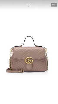 Gucci GG Marmont Small Top Handle Bag 498110 Apricot