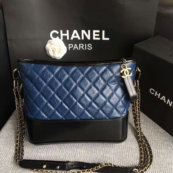 Chanel Gabrielle Shoulder Bag Original Calfskin Leather A93842 Blue
