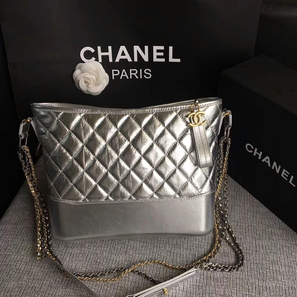 Chanel Gabrielle Shoulder Bag Original Calfskin Leather A93842 Silver