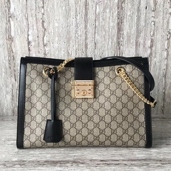 Gucci Padlock Medium GG Shoulder Bag 479197 Black
