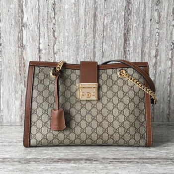 Gucci Padlock Medium GG Shoulder Bag 479197 Brown