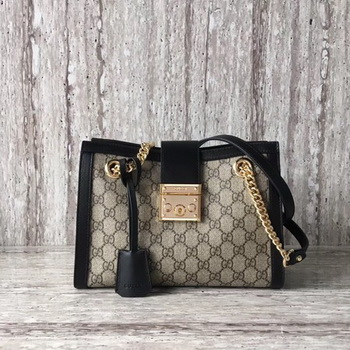 Gucci Padlock Small GG Shoulder Bag 498156 Black