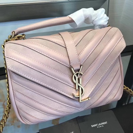 Saint Laurent Small Classic Monogramme Leather Flap Bag Y2802 Pink