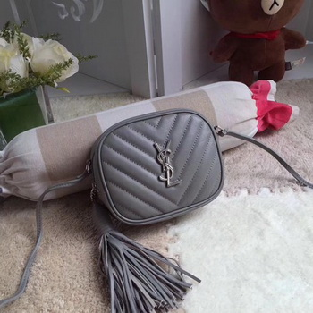 Yves Saint Laurent Monogram Leather Bag Y5804 Grey