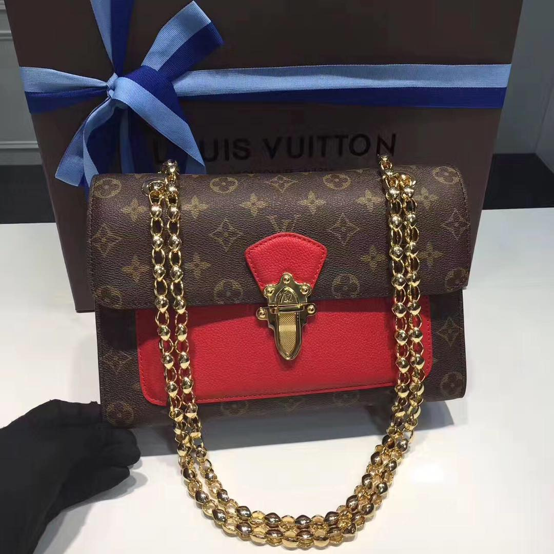 Louis Vuitton Monogram Canvas 41731 Red