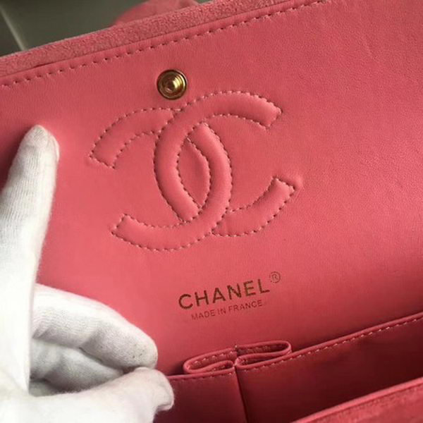 Chanel 2.55 Series Classic Flap Bag Original Nubuck Leather CF1112 Pink