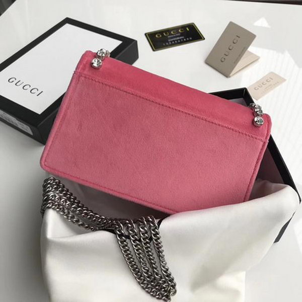 Gucci Dionysus Velvet Super mini Bag 476432 Pink
