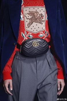 Gucci GG Marmont Leather Belt Bag 476434 Black