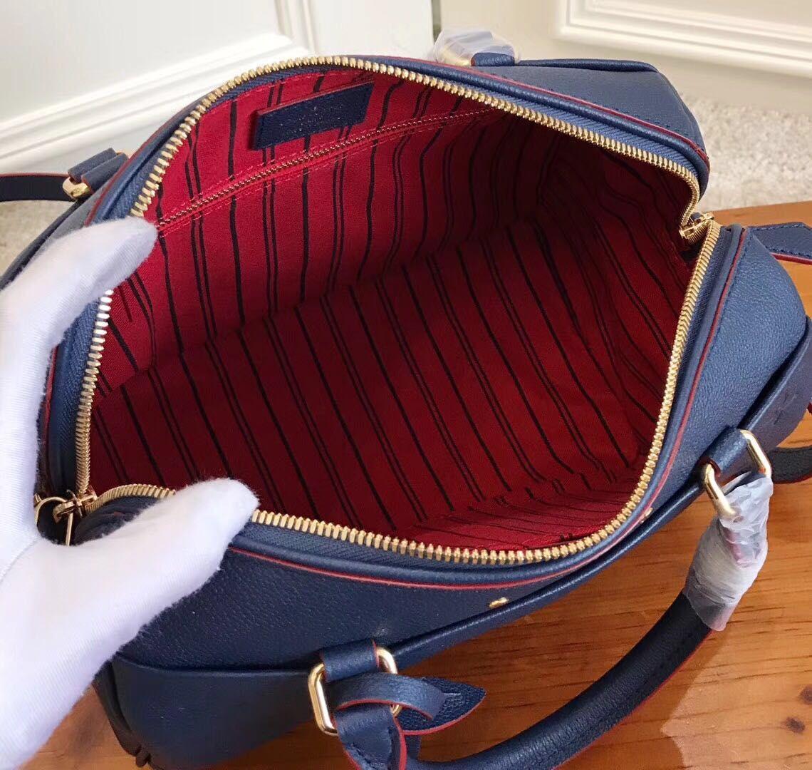 Louis Vuitton Monogram Empreinte SPEEDY Bag 42404 Blue