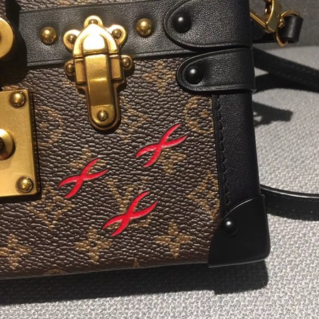 Louis Vuitton Petite Malle Monogram Canvas Bag M50016