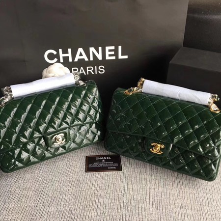 Chanel 2.55 Series Flap Bags Original Leather A1112 Green