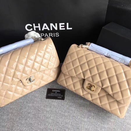 Chanel Classic Flap Bag Original Leather A1113 Apricot