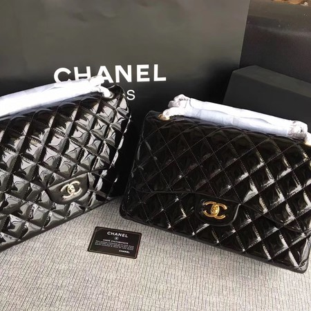 Chanel Classic Flap Bag Original Leather A1113 Black