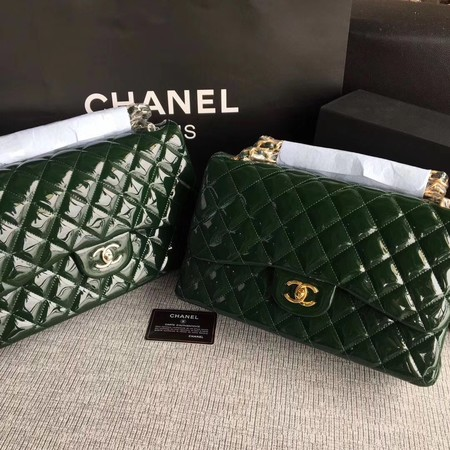 Chanel Classic Flap Bag Original Leather A1113 Green