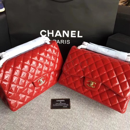 Chanel Classic Flap Bag Original Leather A1113 Red