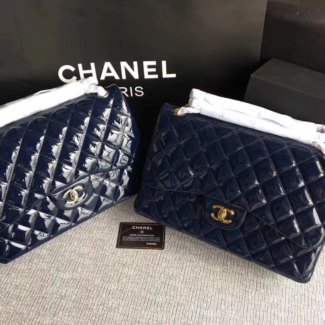 Chanel Classic Flap Bag Original Leather A1113 Royal
