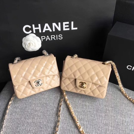 Chanel Classic Flap mini Bag Original Leather A1115 Apricot