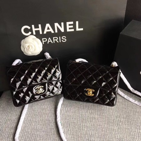 Chanel Classic Flap mini Bag Original Leather A1115 Black
